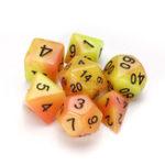 Оригинал 7 шт. Светящиеся многогранные кубики Набор кубиков с кубиками для RPG