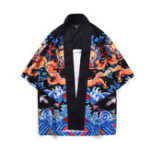 Оригинал Мужские китайские Дракон Винтаж этнический стиль свободные плащи пальто