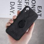 Оригинал BakeeyHappyDeerRingДержательКронштейн ТПУ + PU Кожа Защитная Чехол Для iPhone XR 6.1 дюймов