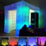Оригинал 2.55 М Надувные Профессиональные LED Air Photo Booth Стрельба Фотографии