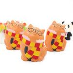 Оригинал Squishy Очки Оранжевый Кот 11.5 СМ Медленно растущий отскок игрушки с упаковкой подарочный декор