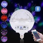 Оригинал AC100-240V E27 Voice Control Music Speaker Colorful LED Bluetooth Лампочка для сценической вечеринки
