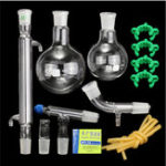 Оригинал 500mL 24/40 Lab Glass Distillation Distilling Apparatus Laboratory Glassware Kit