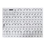 Оригинал MusicКлавиатураНаклейкиинаклейкидля фортепиано 61 KEY SET Съемные белые ламинированные наклейки