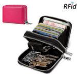 Оригинал RFIDмужчиниЖенскоеНатуральнаяКожа 14 карт слот кошелек