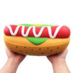 Оригинал Гигантский Хлеб Гигант Squishy Hot Собака Колбаса 26 СМ Jumbo Burger Медленно растущие игрушки Подарочный декор