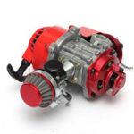Оригинал 49 куб. См. 2-тактный ручной гоночный Двигатель мини-мотоциклетный мини-мотоцикл Minimoto с воздушным охлаждением
