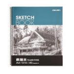 Оригинал Deli 7698 Бумага для рисования профессионального искусства A4 Бумага для рисования Бумага для рисования 40 страниц / книга