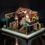 Оригинал  IIE CREATE DIY Кукла Дом K-035 Кафе One 37,5 * 29,5 * 23см С часовым механизмом Легкая крышка Подарочная коллекция