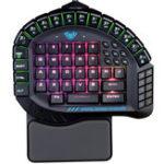 Оригинал AULA Blue Switch RGB Одноручный Механический Gaming Клавиатура с наручным ковриком