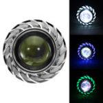 Оригинал Двойной Цвет Круглый 8000K 30 Вт High / Low Beam LED Фары Для мотоцикл Angel Eyes Свет Дьявола