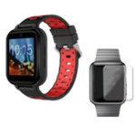 Оригинал FINOW Q1 Pro Черный Красный 4G 1 + 8G GPS WIFI IP67 Водонепроницаемы Умные часы + 40мм HD Протектор экрана часов из закаленного стекла