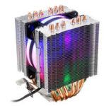 Оригинал 3-контактный радиатор охлаждения кулера процессора для Intel 775/1150/1151/1155/1156/1366 и AMD для всех платформ 5-цветное освещение