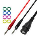 Оригинал P1203 Соединительная линия BNC Banana Plug с полной изоляцией, сопротивление 50 Ом, коаксиальный кабель RG58, соединение Q9