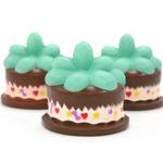 Оригинал Squishy Растение Шоколадно-кремовый торт 9 см Медленно растущий отскок игрушки с упаковкой подарочный декор