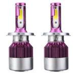 Оригинал 60W 7200LM COB LED Авто Фары Лампы Противотуманные фары H4 H11 9005/9006 9-32 В 6500 К Белый