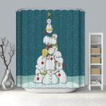 Оригинал 180x180CMВодонепроницаемыLongВаннаякомнатаЗолотая новогодняя елка с 12 крючками