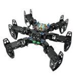 Оригинал ZL-TECH QF-6 6-Legged Arduino DIY RC Robot APP Палка Контроль предотвращения препятствий Образовательный Набор