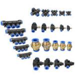 Оригинал Пневматические фитинги пневматические Коннектор для воздуха / воды Шланг и Трубка Доступны все размеры