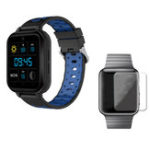 Оригинал FINOW Q1 Pro Черный Синий 4G 1 + 8G GPS WIFI IP67 Водонепроницаемы Смарт-часы + 40мм HD Протектор экрана часов из закаленного стекла