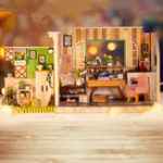 Оригинал IIE CREATE DIY Кукла Дом H-001 Гетеборгская Студия С Мебелью Music Light Cover 30 * 12 * 16.2CMПодарочная коллекция декора