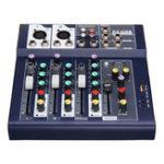Оригинал 4-канальный 48 В Bluetooth USB Sound Live Studio Аудио Микшер Микшерный пульт Караоке