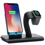 Оригинал Type-C Порт 2 в 1 Qi Беспроводное зарядное устройство Держатель телефона Держатель часов для iPhone Samsung Серия Apple Watch