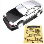 Оригинал 1/10 ПВХ RC Авто Shell Окрашенный Корпус для Toyota AE86 Модель Rc Авто Колесная база 256 мм C Аксессуары
