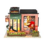 Оригинал Hoomeda C008 DIY Кукла Дом Век Книжный магазин С Обложкой Музыка Движение Коллекция Подарков Декор Игрушки