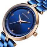 Оригинал MINIFOCUSMF0120LПовседневныйстильFull Steel Женское наручные часы