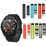 Оригинал Bakeey 22mm Dual Color Soft Силиконовый Ремешок для часов Smart Watch Стандарты для Huawei GT Смарт-часы