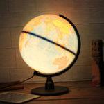 Оригинал Универсальный LED World Globe Вращающийся поворотный Карта Земли Атлас География