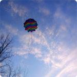 Оригинал 27,5-дюймовый игрушечный кайт с парашютом На открытом воздухе Play Throw Free Fall Toy