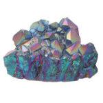 Оригинал Фиолетовый Радуга Аура Кварц Природные точки кластера драгоценного камня Кристалл Украшения дома