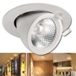 Оригинал 5 Вт 7 Вт 12 Вт 15 Вт 20 Вт 30 Вт LED COB Затемняемый потолок Лампа Dowm Свет Регулируемый прожектор Светильник для скрытого монтажа