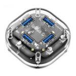 Оригинал Orico H4U Прозрачный USB 3.0-4-портовый USB 3.0 концентратор с Micro USB Power Port