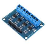 Оригинал L9110S 4-канальный DC Stepper Мотор Плата водителя H Bridge L9110 Модуль для Arduino интеллектуального автомобиля