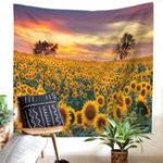 Оригинал Картина подсолнечника гобелен гобелен цветок с рисунком Пляжный Полотенце Спальня украшения дома