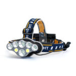 Оригинал XANES®2606-8A3300LM2T6+4 * XPE + 2 * COB LED Фара на 8 режимов с 2 * 18650 Аккумуляторы Аккумуляторная Кемпинг Аварийный фонарь для велоспорта
