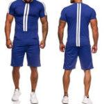 Оригинал Мужская повседневная спортивная одежда с коротким рукавом Спортивная одежда