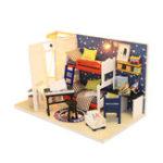 Оригинал Hoomeda S901 DIY Кукла Дом будущего Пространство миниатюрная отделка с крышкой 18 см