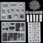Оригинал 113Pcs DIY Прессформы для литья под давлением Кулон Формы для изготовления ювелирных изделий Силиконовый Craft Набор