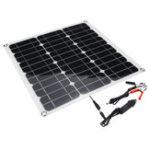 Оригинал Портативный 40W 12V / 5V Солнечная Panel Батарея DC / USB зарядное устройство для RV Лодка Кемпинг Путешествия