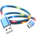 Оригинал KISSCASE Голосовое управление Быстрая зарядка LED 2A Micro USB кабель для передачи данных для Samsung Xiaomi Huawei