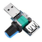 Оригинал 5шт USB-контроллер скорости вентилятора Модуль уменьшения шума Multi-Stall Регулировка регулятора постоянного тока 4-12В