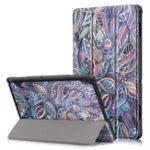 Оригинал Tri-Fold Печатный планшет Чехол Чехол для планшета Lenovo Tab E10 – Листья дерева