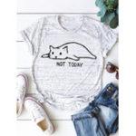 Оригинал Женская футболка с коротким рукавом с принтом Кот