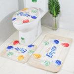 """Оригинал Туалетный набор из трех частей """"Пасхальный кролик"""" Ванная комната Набор нескользящий Soft Коврик для ванной Крышка Коврик Чехлы на сиденья д"""