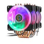 Оригинал 5 цветов освещения 3-контактный вентилятор охлаждения процессора для Intel / AMD Super Mute 3 вентилятор охлаждения вентилятора процессора радиатор