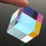 Оригинал 30x30mm Cube Дефектный крест Дихроичная призма RGB Combiner Splitter Стеклянный декор